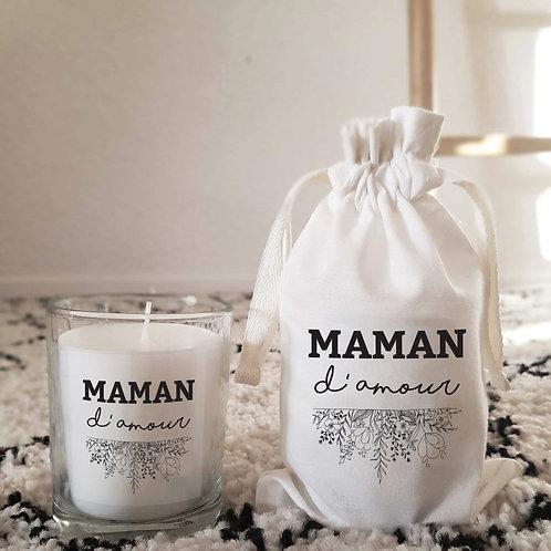 Bougie parfumée personnalisée maman d'amour