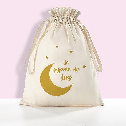 Petite sac de rangement personnalisé, pochon personnalisé, en coton BIO