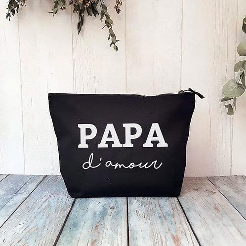 Trousse de toilette personnalisée papa d'amour cadeau fête des pères