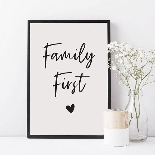 Affiche encadrée Family First
