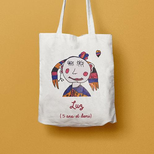 Tote bag personnalisé avec dessin de votre enfant