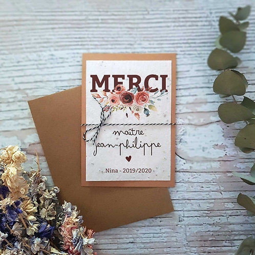 "Carte à planter ""Bandeau fleuri"""