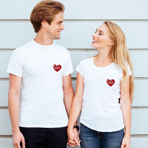 T-shirt femme personnalisé coeur cadeau personnalisé saint valentin
