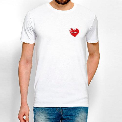T-shirt homme personnalisé cœur cadeau personnalisé saint valentin