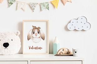 cadre lapin chambre enfant