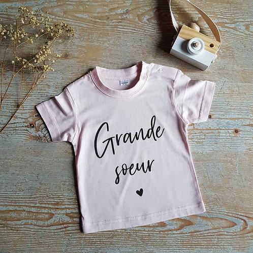 T-shirt bébé personnalisable family first