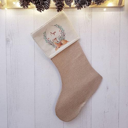 Chaussette de Noël, botte de Noël personnalisée, Luz et NIna