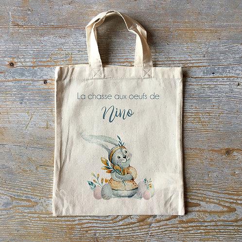 Sac de Pâques, sac chasse aux oeufs de pâques, sac personnalisé, mini tote bag personnalisé
