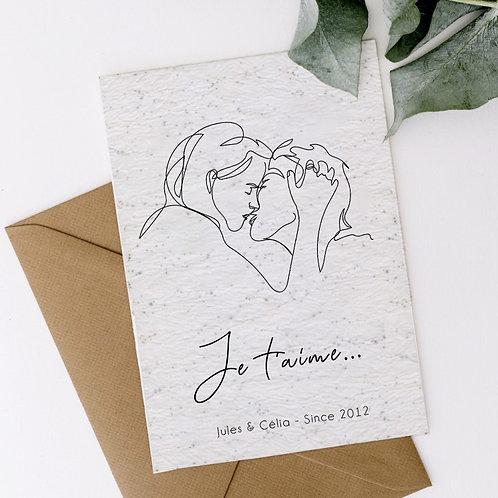 Carte à planter personnalisée couple cadeau personnalisé saint valentin