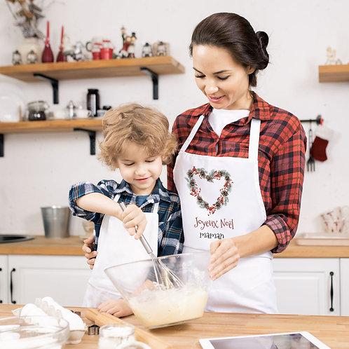 Tablier de cuisine personnalisé noël