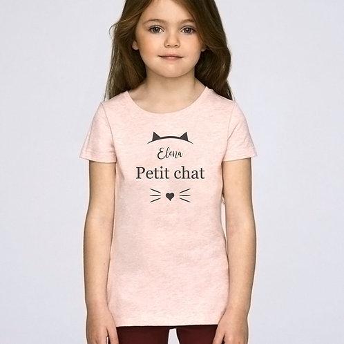 t-shirt enfant personnalisé petit chat