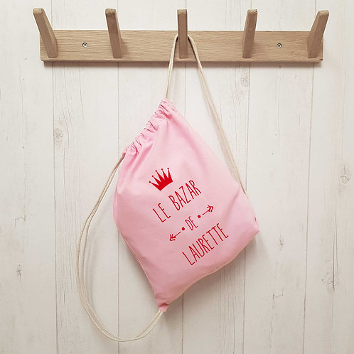 Petit sac à dos enfant coton biologique personnalisé