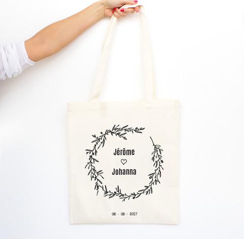 "Connu Tote bag ""Couronne"" - Mariage // EVJF - CLASSIC | Luz & Nina  ML63"