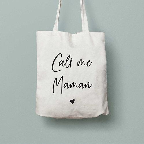 Tote bag Call me Maman
