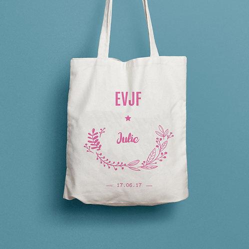 Tote bag EVJF personnalisé, sac personnalisé EVJF - Mariage cadeau mariée, témoin, mademoiselle d'honneur