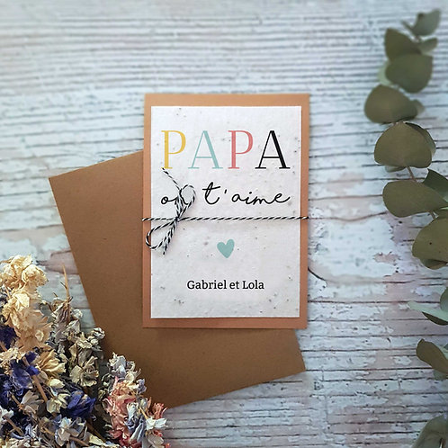Carte à planter fête des père papa personnalisé