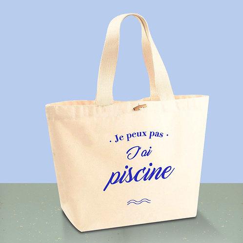 Sac cabas en coton BIO - sac de plage - sac de piscine - by Luz et Nina
