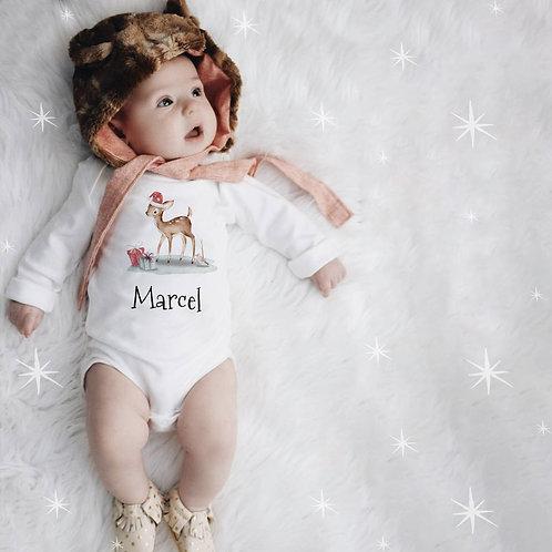 Body bébé personnalisé noël faon