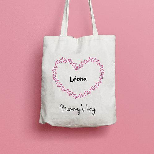 Tote bag mummy's bag, sac maman, cadeau maman, sac personnalisé, cadeau fête des mères, luz et nina