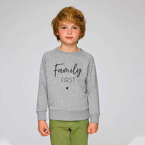 Sweat enfant personnalisé family first