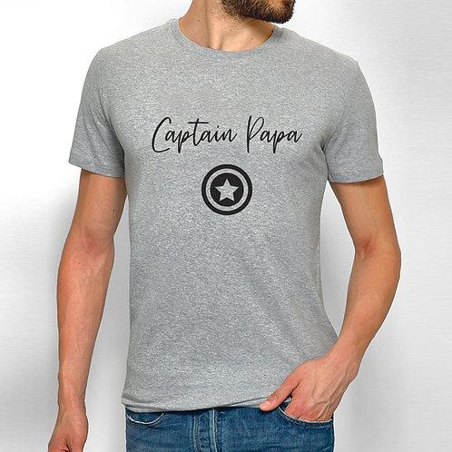 T-shirt homme personnalisé Captain Papa