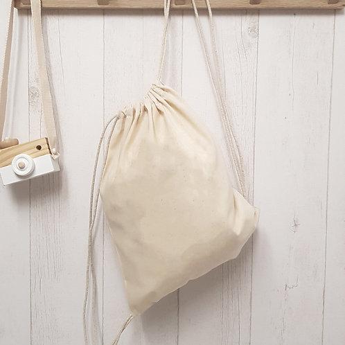 """Petit sac à dos en coton BIO """"Sur-mesure"""""""