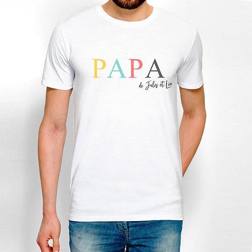T-shirt Papa personnalisé