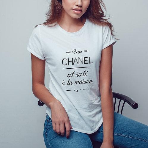 t-shirt femme personnalisé, t-shirt chanel, coton bio