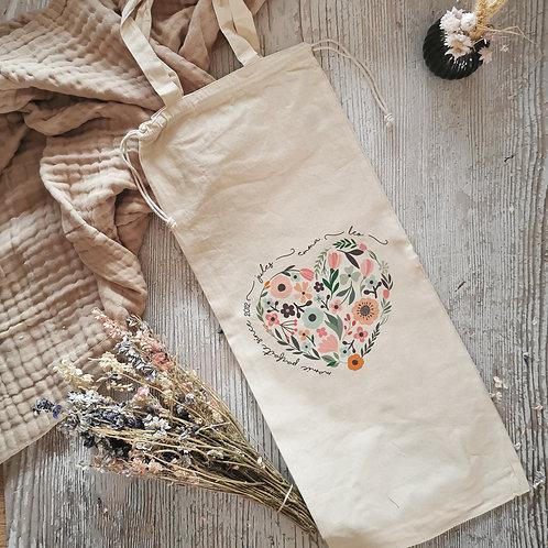 Sac à pain en coton biologique personnalisable