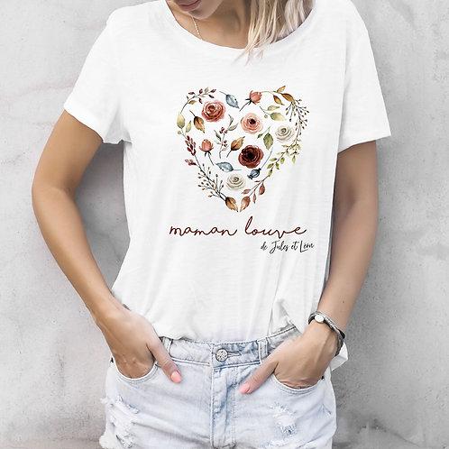 T-shirt femme personnalise coeur maman