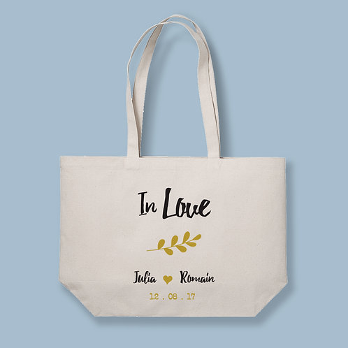 Tote Bag XL The Big Bag - In Love - by Luz et Nina