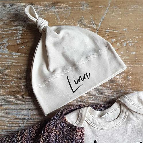 Bonnet naissance bébé personnalisé
