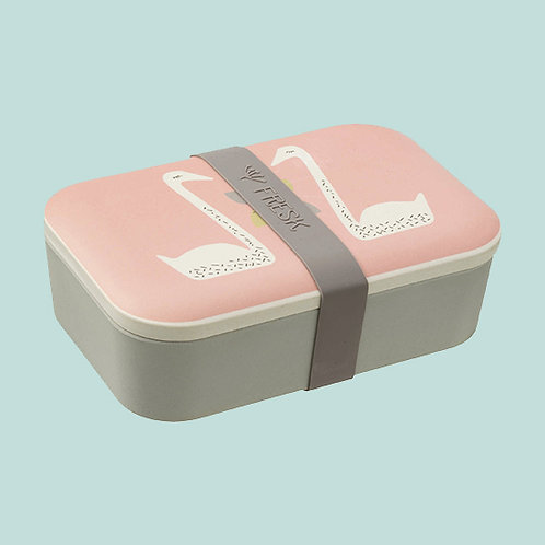 Boîte à goûter personnalisée cigne rose