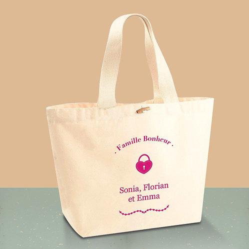 Sac cabas en coton BIO - sac de plage - by Luz et Nina