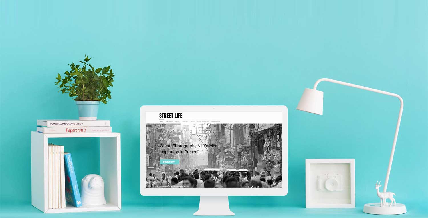 Wix Wow | professional website design | Stylish Desktop white and turquoise