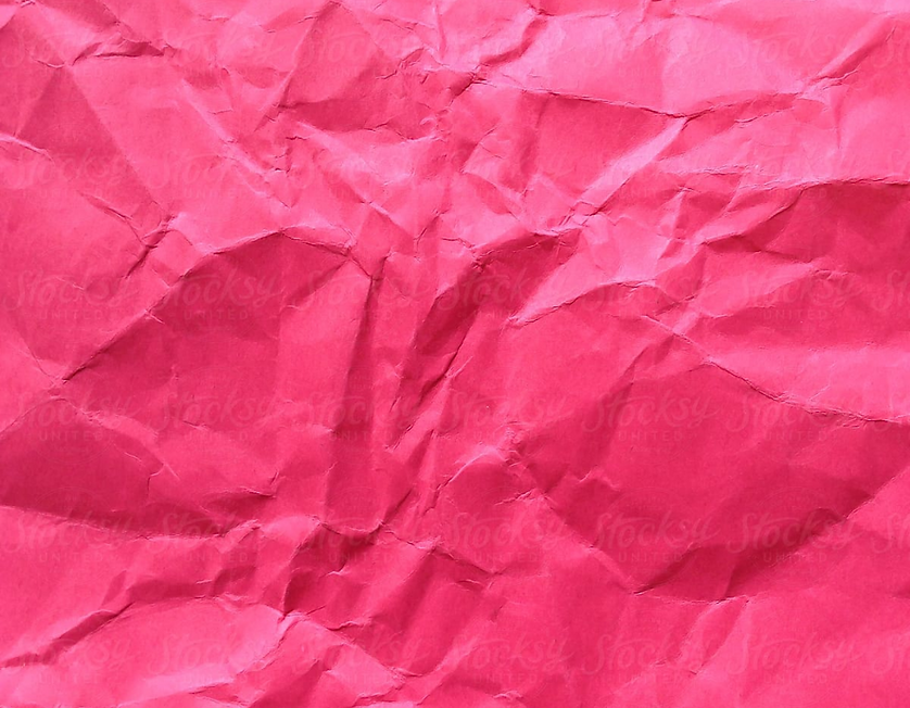 Close Up Of Crumpled Piece Of Colorful C