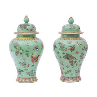 Pair of Porcelain Ginger Jars