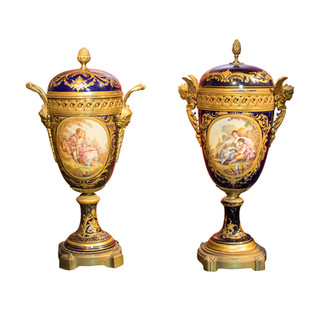 Pair of French Twin Vases