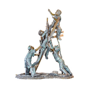 Bronze Firemen Fountain