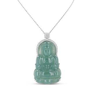 Jadeite & Diamond Pendant