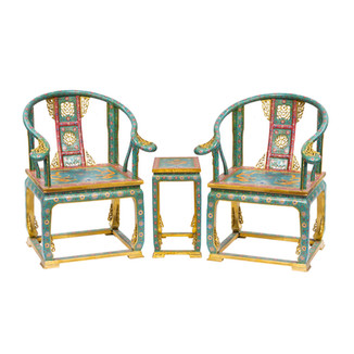 Cloisonne Three Piece Chair Set