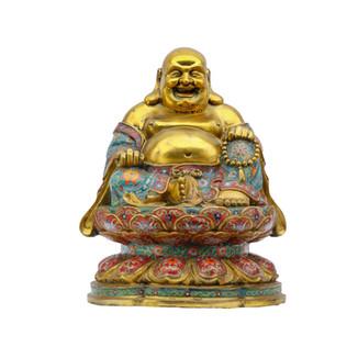 Cloisonne Sitting Buddha