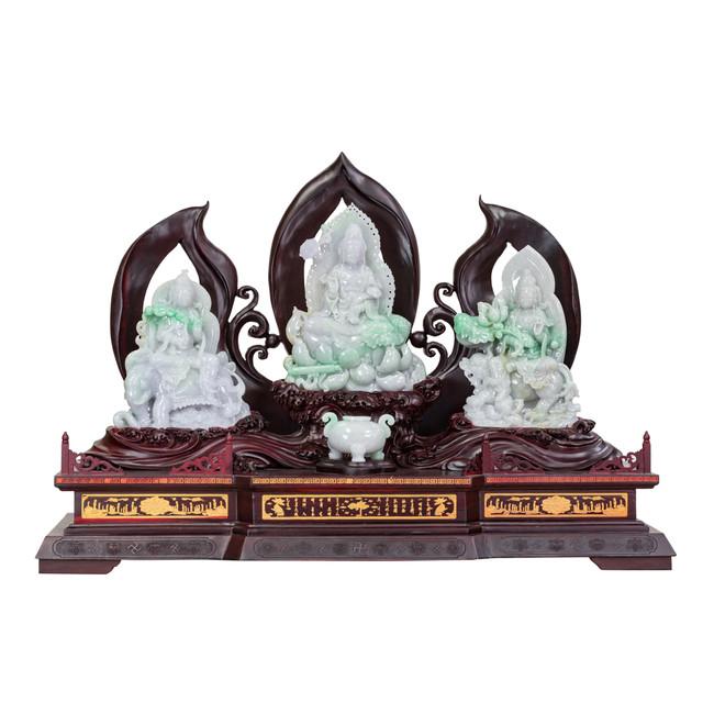 Jade Guanyin Three Star Deities