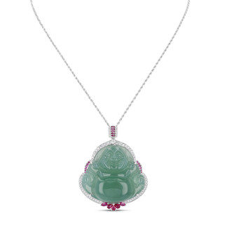 Jadeite Buddha Pendant
