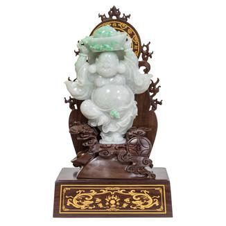 Jadeite Happy Buddha Carving