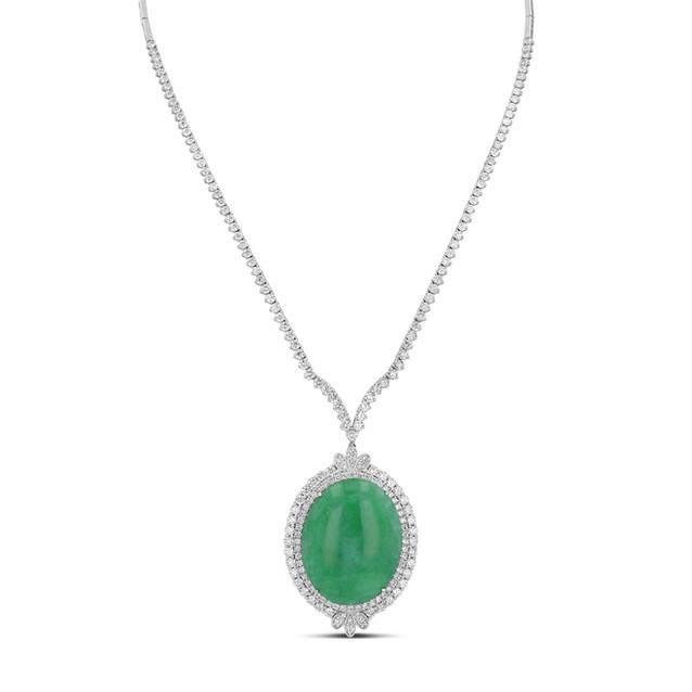 Jadeite & Diamond Necklace