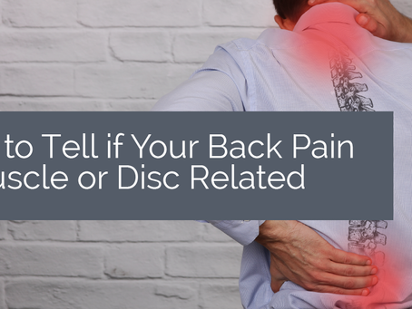 Is your back pain from the disc or muscle?