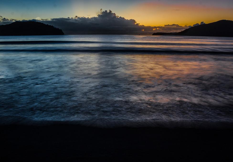 Perequê-açu Beach at the dawn