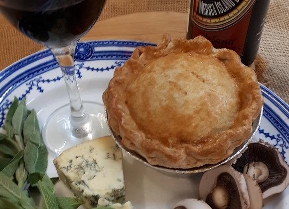 Beef & Blue Pie