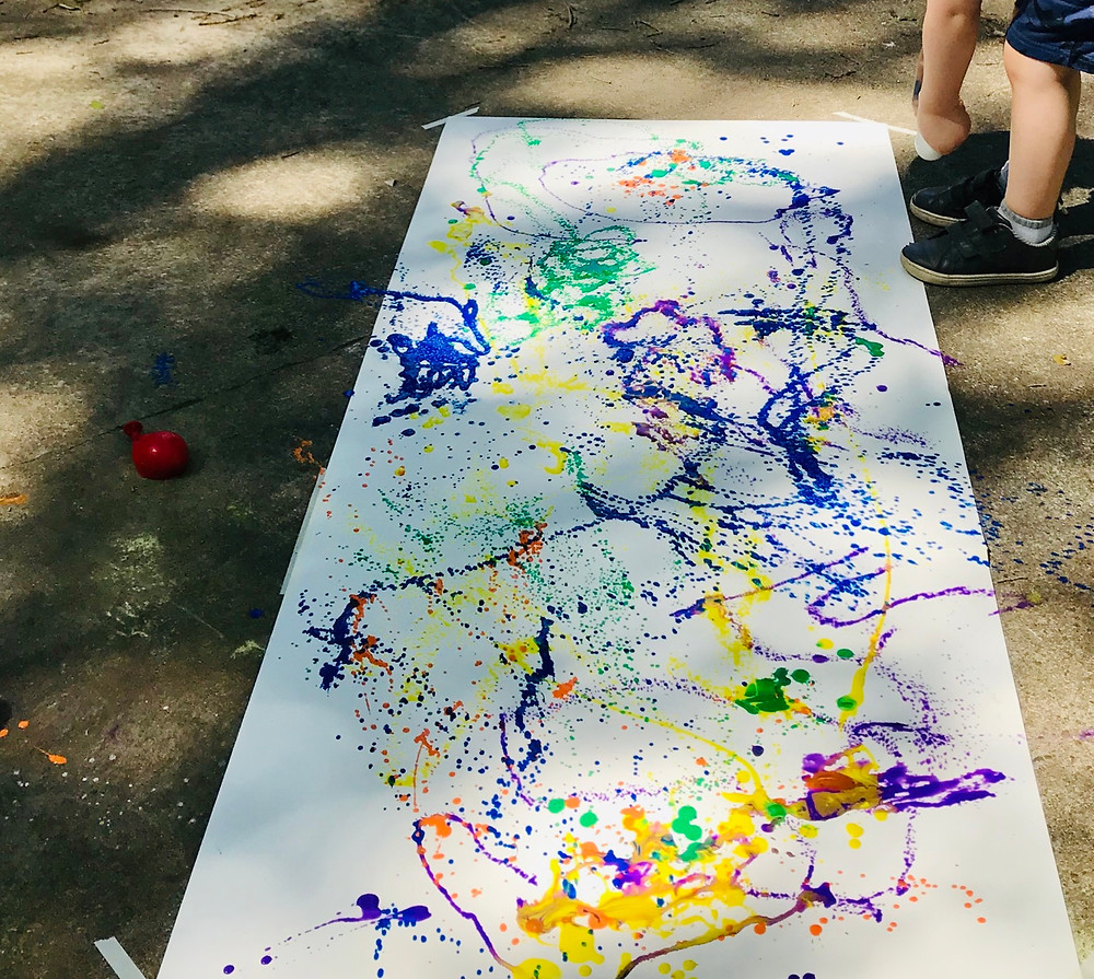 Outdoor paint activity